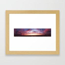 Richmond park sunset panorama Framed Art Print
