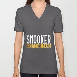 Snooker Lovers Gift Idea Design Motif Unisex V-Neck