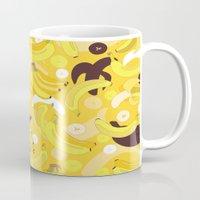 banana Mugs featuring Banana by Ornaart