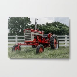 International Harvester Farmall 240 Red Tractor McCormick Deering Metal Print