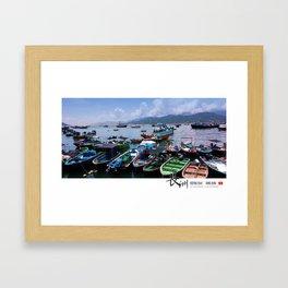 Sampans at Cheung Chau, Hong Kong Framed Art Print
