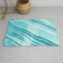 Abstract Marble - Teal Turquoise Rug