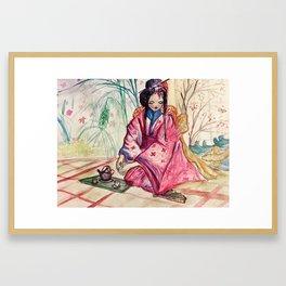 Geshia Tea Time Framed Art Print