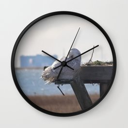 Itchy Snowy Wall Clock