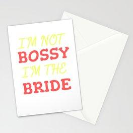 Funny Leadership T-Shirt Design I M THE BRIDE Stationery Cards