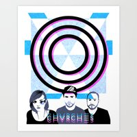 chvrches Art Prints featuring Chvrches by Andrea Solenghi