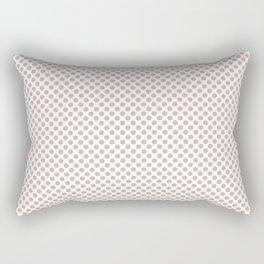 Rose Smoke Polka Dots Rectangular Pillow