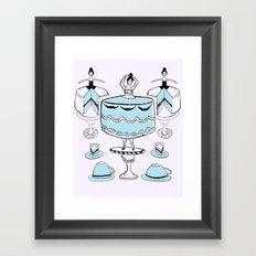 Let Them Wear Cake Framed Art Print