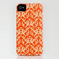 Damask in Orange Slim Case iPhone (4, 4s)