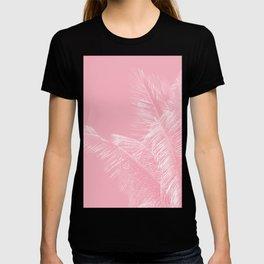 Millennial Pink illumination of Heart White Tropical Palm Hawaii T-shirt