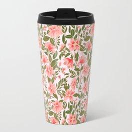 Pink Botanical Dream Pattern Travel Mug