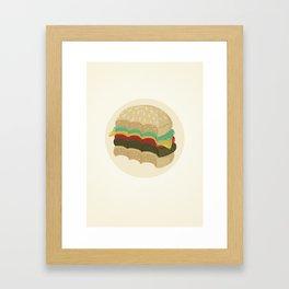Totally a Burger Framed Art Print