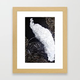 White Peacock  Framed Art Print