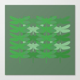 green dragonflies Canvas Print