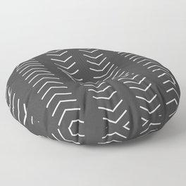 Mudcloth Black white arrows Floor Pillow