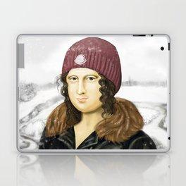 Mona Lisa in winter Laptop & iPad Skin