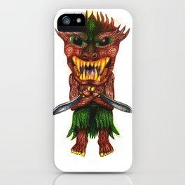Wood warrior iPhone Case