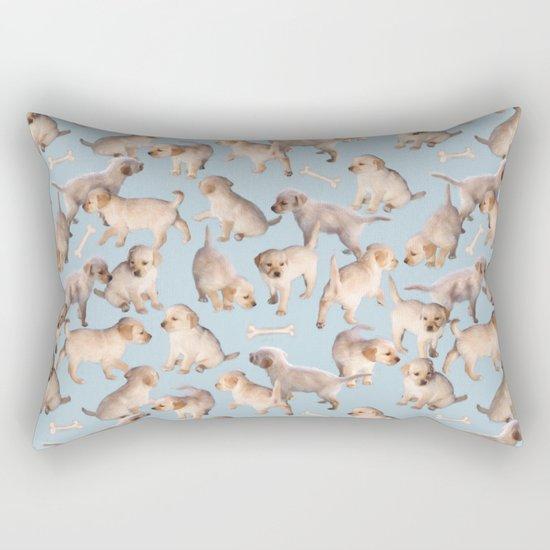 Too Many Puppies Rectangular Pillow