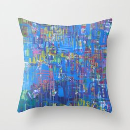 Forward is The Only Direction Throw Pillow