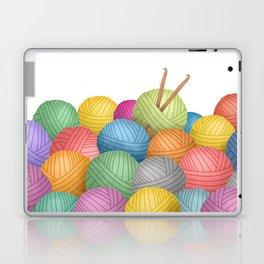 Two Crochet Hooks And A Lot Of Yarn Laptop & iPad Skin