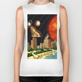 vacation on the other side of the solar system Biker Tank