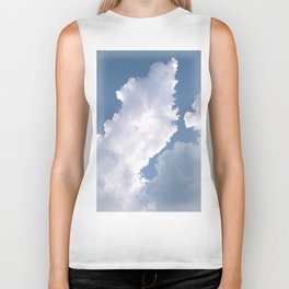 Summer clouds Biker Tank