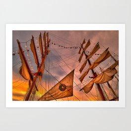 Tall Ship BAE Guayas, Ecuador Art Print