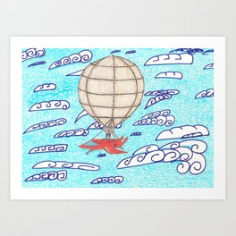 SteamPunkBlimp2 Art Print