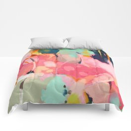 spring moon earth garden Comforters