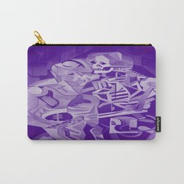 Halloween Skeleton Welcoming The Undead Carry-All Pouch
