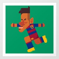 N11 Mini | Blaugrana Art Print