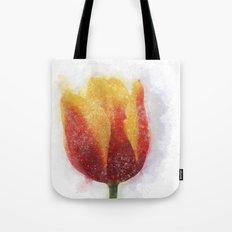 Tulip Painting Tote Bag