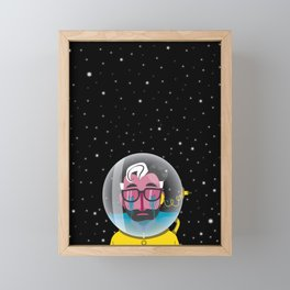No one can hear you cry in space Framed Mini Art Print