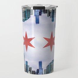 Chicago Skyline Flag Travel Mug