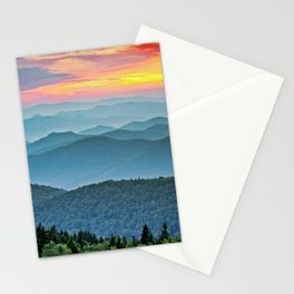 Mountain Range Sunset Stationery Cards