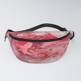 Pink & Red Abstract Painting Fanny Pack
