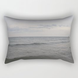 Distant Lighthouse on Lake Michigan Rectangular Pillow