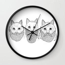 Cats With Beards Wall Clock