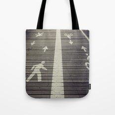 Brooklyn Bridge Footpath Tote Bag