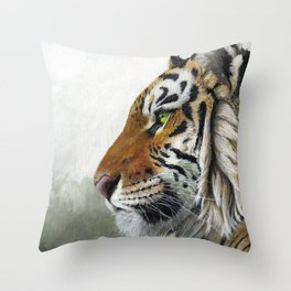 Tiger profile AQ1 Throw Pillow