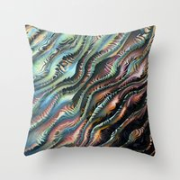 novelty Throw Pillows featuring Turbulence by Moody Muse