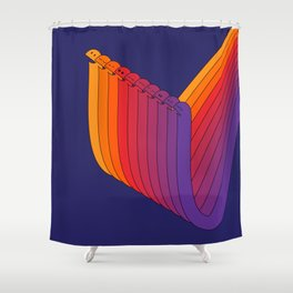 Silly Strings Shower Curtain