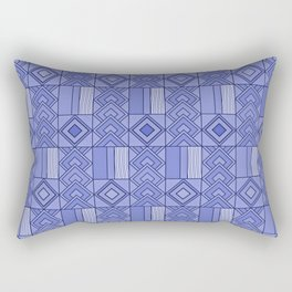 Purple African Ankara Geometric Print Rectangular Pillow