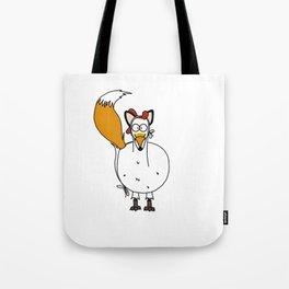 Eglantine la poule (the hen) dressed up as a fox. Tote Bag