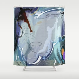 Frisbee Shower Curtain