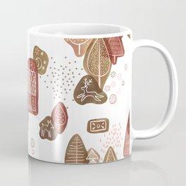 Hansel and Gretel Fairy Tale Gingerbread Pattern on White Coffee Mug