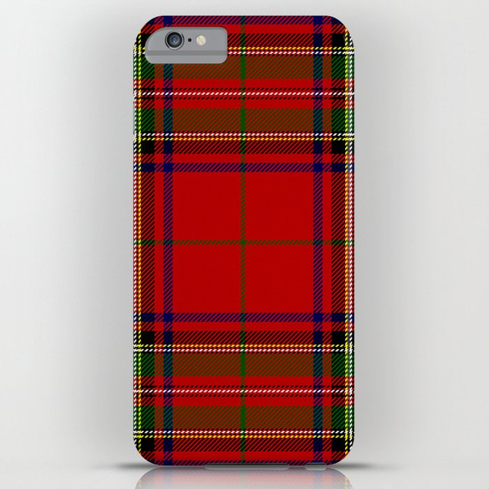 red tartan plaid iphone case