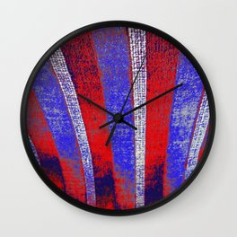 In the Zone red white blue stripes Wall Clock