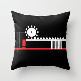 Consumerism Throw Pillow