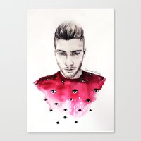 coconutwishes Canvas Prints featuring Eyes on Zayn  by Coconut Wishes